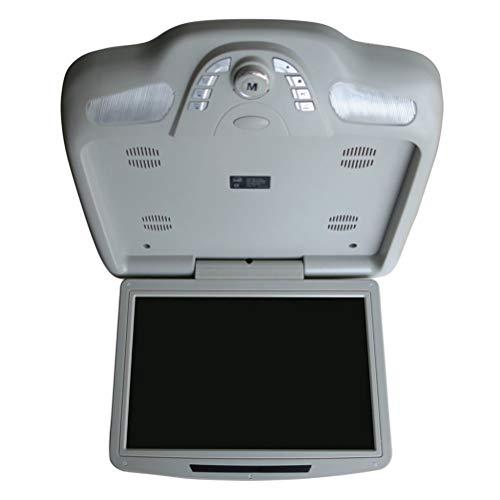 11,3 Zoll Auto Monitor Dach Decke Flip Down TFT LCD-Bildschirm Mount DVD-Player mit USB/SD/IR/FM Transmitter/Lautsprecher/Spiel,Gray