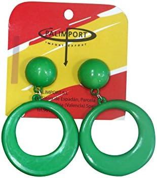 Pendientes de flamenca pequeños en color verde