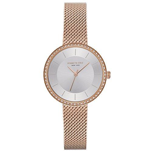 Kenneth Cole Reloj Analógico para Mujer de Cuarzo con Correa en Acero Inoxidable KC50198004
