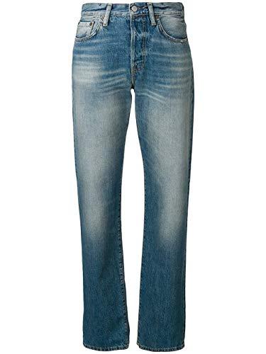 ACNE STUDIOS Damen A00020863 Blau Baumwolle Jeans