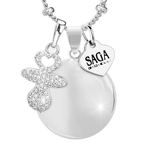 Saga gioielli® collana chiama angeli bola messicana charm ciuccio cristalli