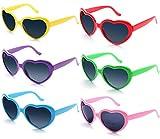 Fsmiling All'ingrosso Colori al Neon Festa Occhiali da Sole a Forma di Cuore per Bambini Adulti(Occhiali da Sole)