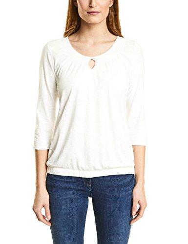 Cecil Damen Langarmshirt 311861 Adriana, Weiß (Pure Off White 10125), Medium