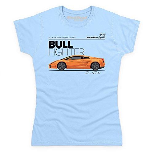 Jon Forde Bull Fighter T-Shirt, Damen Himmelblau