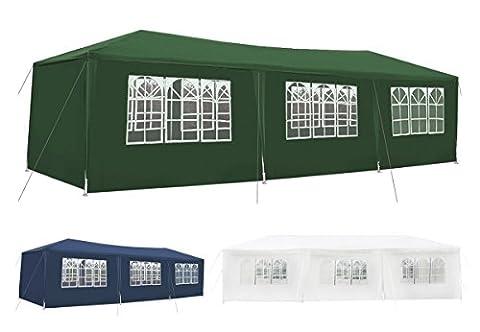 Pavillon 3x9m Partyzelt Garten Pavilion Festzelt Marktzelt +Seitenwände #1660,