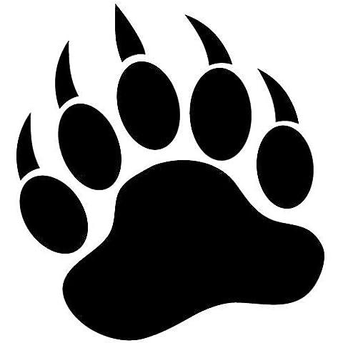 Grizzly Bear Paw Print 3.5Nero vinile adesivo