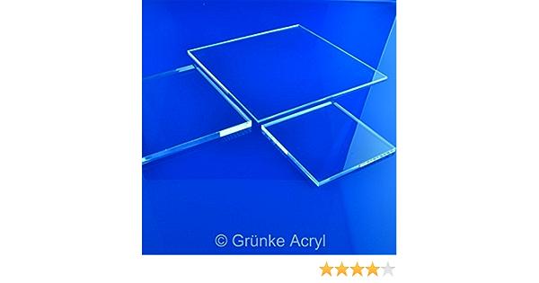 Gr/ünke/® 3 mm Acrylglas XT farblos klar Zuschnitt Platte 500mm x 250mm Acryl