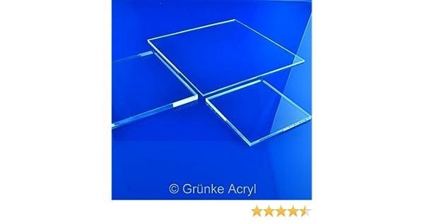 Gr/ünke/® 3 mm Acrylglas XT farblos klar Zuschnitt Platte Acryl 250mm x 250mm