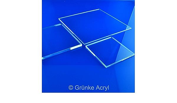 Gr/ünke/® 3 mm Acrylglas XT farblos klar Zuschnitt Platte 1500mm x 500mm Acryl