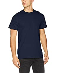 Gildan Herren Heavy Cotton Tee T-Shirt, Blau Navy, XXL
