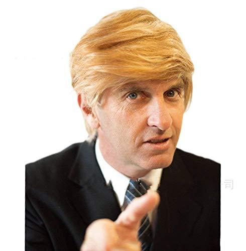 Kostüm Donald Wig Trump - Ecommerce Trade Ltd Perücke Kostüm Halloween Party Zubehör Spiel der Throne Donald Trump Harley Quinn Schwarz Blonde SIL (Donald Trump)