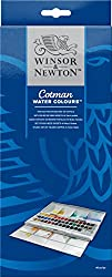Winsor & Newton Cotman Water Colour Paints - 45 Half Pans
