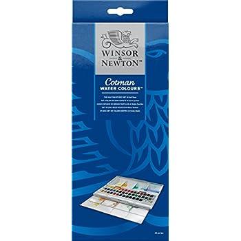 Winsor & Newton Cotman Water Colour Paints - 45 Half Pans