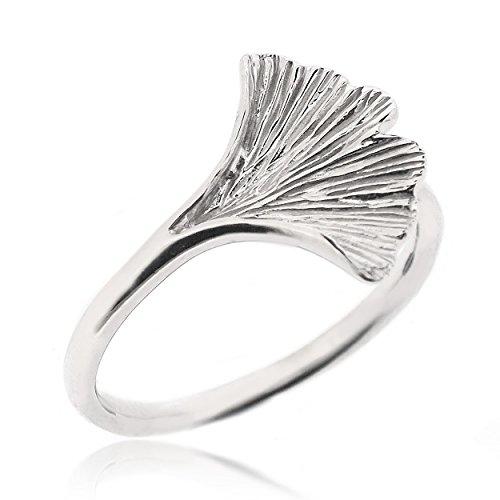 Sovats Damen Ginkgo Blatt-Ring, Größe 58 Olive-damen-ring