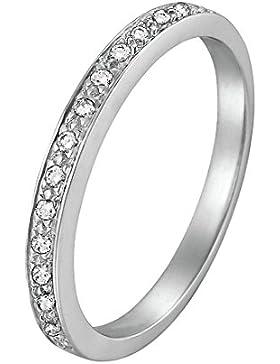CHRIST Diamonds Damen-Ring 585er Weißgold 15 Diamant ca. 0,08 ct. (weißgold)