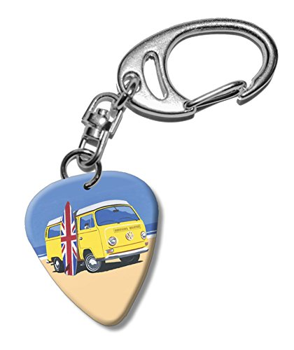 surf-board-campervan-beach-martin-wiscombe-guitare-mediator-pick-porte-cles-vintage-retro