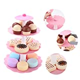 Dolity Kinderküche Lebensmittel Rollenspielzeug - Dreistöckig Kuchen Kekse Macarons Plätzchen Nachtisch Turm Spielzeug