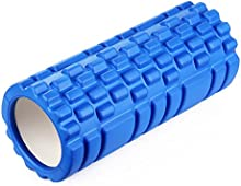 Amzdeal Rodillo de Espuma para masaje muscular y relajar muscular para Yoga ,Entrenamiento, 2 en 1 Combinación de alta densidad 3D convexa Color Azul