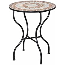 Tavolo ferro battuto for Tavolo rotondo mosaico