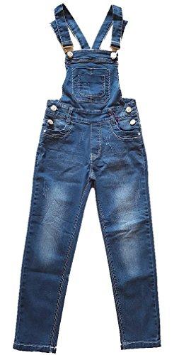 Tolle Jeans Latzhose für Mädchen, in blau, Gr. 104, M5408.4