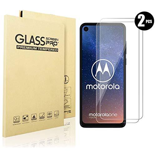QITAYO Panzerglas Schutzfolie für Motorola moto one vision[2 Stück] [2.5D Rand][Blasenfrei][Schutz vor Kratzer] [Einfache Installation] Motorola moto one vision Folie Glas Bildschirmschutzfolie.