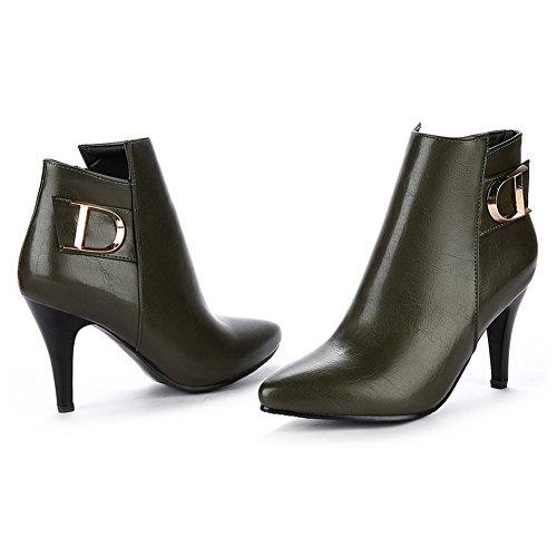 Una Andku01930 - Sandalias Con Cuña Verde Para Mujer