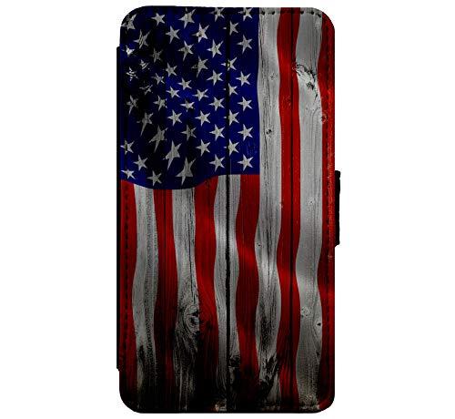 a USA American Wood Flag-Leder-Schlag-Telefon-Kasten-Mappen-Abdeckungshaut für iPhone 11 Pro ()