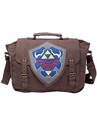 Bioworld NINTENDO Legend of Zelda Hylian Shield Messenger Bag, Brown (MB210116ZEL) Sac bandoulière, 43 cm, Marron (Brown)