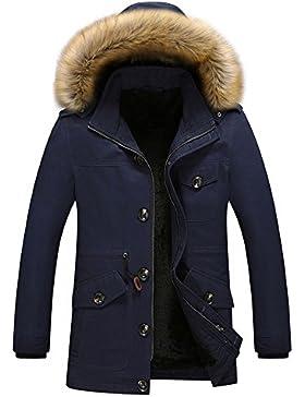 qqer Chaquetas hombre con capucha chaqueta de algod¨®n ropa de invierno