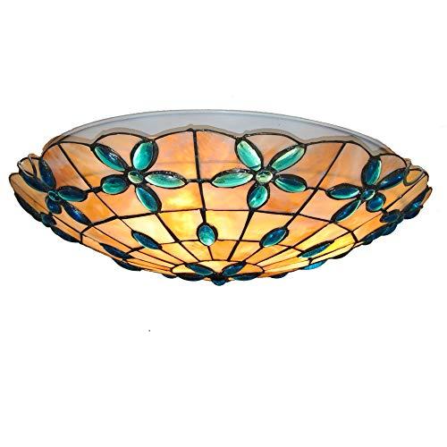 16 Pouces Fleurs Tiffany Style Plafonnier Lampe De Vitrail Pour Chambre Salon E27 110-240V