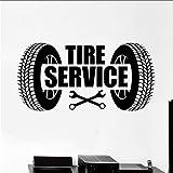 Chellonm Service Logo Wandaufkleber Vinyl Wandtattoo Autoreifen Autoreparatur Garage Wandkunst Wand Dekoration Auto Service Tapete 85 * 42 Cm