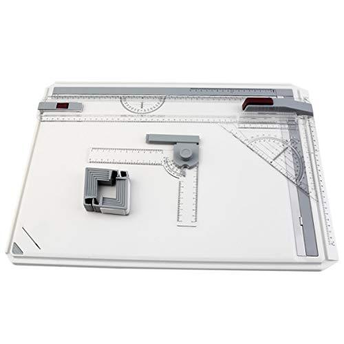 Heaviesk A3 Zeichenbrett Tisch mit paralleler Bewegung Einstellbarer Winkel Zeichner Art Painting Drawing Tools Palette -