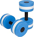 ANAM 2 Pieces Fitness Water Dumbbells Aqua Dumbbell Foam Water Aerobic Pool Exercises Equipment