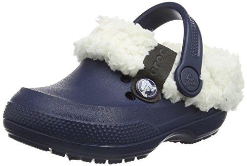 crocs Crocs Classic Blitzen II Clog, Unisex-Kinder Clogs, Blau (Navy/Oatmeal 41C), 22-24 EU (C6-7 Unisex-Kinder UK)