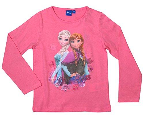 Ökotex Standard 100 Die Eiskönigin 2017 Kollektion 98 104 110 116 122 128 Mädchen Lang Elsa (110 - 116, Rosa) (Frozen T-shirts)