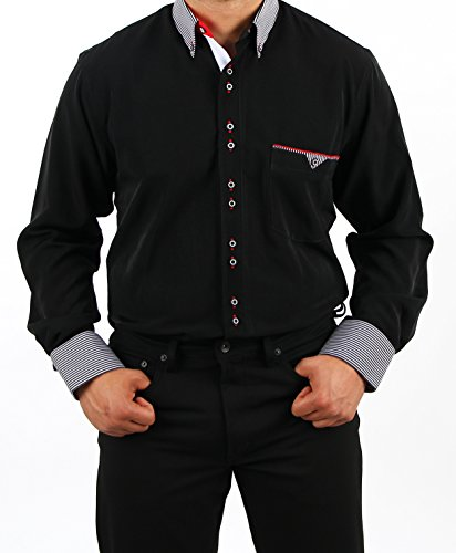 H.K.Mandel -  Camicia Casual  - Assimetrico - Basic - Uomo Nero