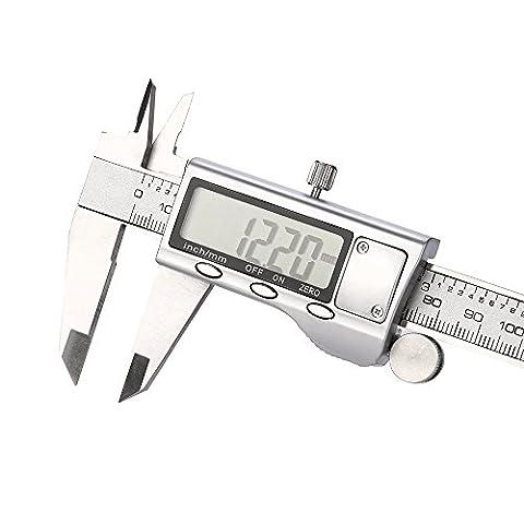 Pied à coulisse digital,NPRADLA 150MM 6inch Étrier en acier inoxydable électronique numérique micrométrique outil Gauge LCD