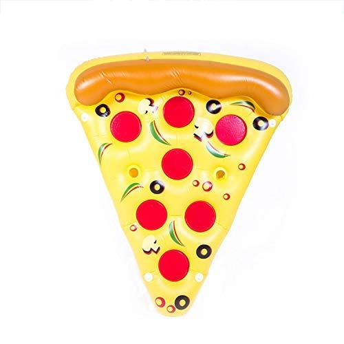 Xcxdx fila di galleggiamento gonfiabile della pizza divertente, zattere di galleggiamento del letto del pvc gigante per il partito della piscina, 180 × 150cm