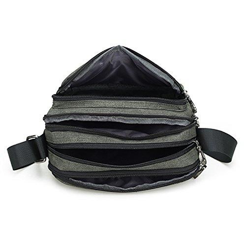 Outreo Taschen Sport Schultertasche Herren Umhängetasche Vintage Messenger Bag Retro Kuriertasche Schule Herrentaschen für Reisen Gr¨¹n