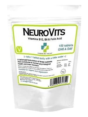 Neurovits - Vitamin B-12 500mcg/ 150 Tabs plus Vitamin B-6 & Folic Acid by Lindens