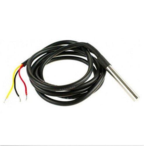 Demiawaking 1pcs /5Pcs /10Pcs 1M DS18b20 Wasserdichte Temperatur Sensoren Temperaturfühler (5pcs) -