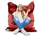 Roomox Original XXL Sitzsack für drinnen und draußen Stoff 160 x 120 x 30 cm, rot