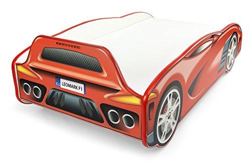*Moderne Lit D'Enfant Toddler Sport Car 140/70 Cm  Lit Pour Enfant Avec Matelas Voiture De Course Voiture Rouge Lit de Voiture Confortable Pour Une Personne Haute Qualité prêt à acheter