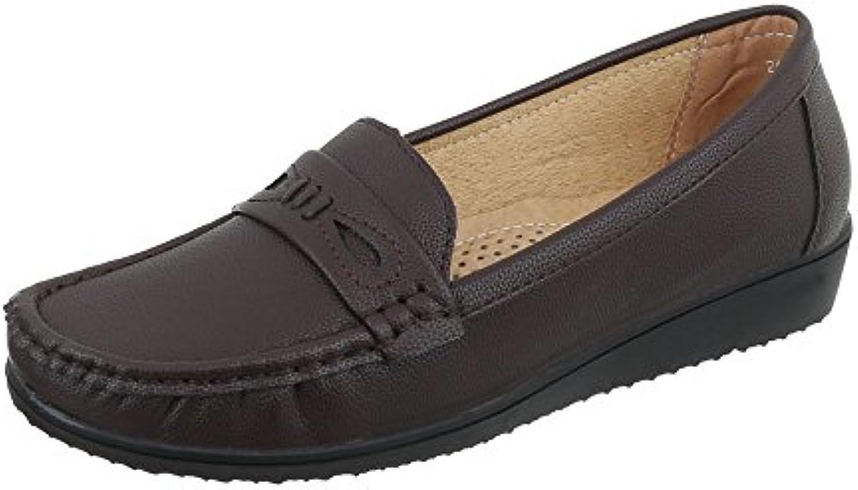 Zapatos Para Mujer Mocasines Plano Mocasines Marrón Tamaño 39