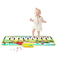 Music Mat, Multi-Function Piano Mat Musical Toys Play Mats Music Singing Gym Carpet Mat Touch Play Piano Keyboard Gift for Kids Baby Toddler