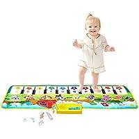 Kids Piano Mat, Music Mat Dance Mats Touch Play Mats Floor Keyboard Musical Carpet Mat for Kids Boys Girls Toddler(100 * 36 cm)