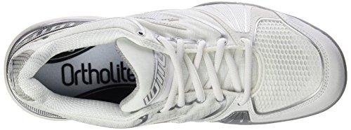 Lotto Stratosphere Cly W, Scarpe da Tennis Donna Bianco / Argento (Wht / Silv Mt)