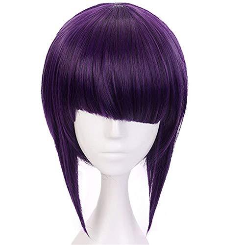 ZYC Hair Cap + Anime Mein Held Academy Kyoka Jiro Kurze Gerade Bob Lila Synthetische Cosplay Perücke Für Kostüm - Lila Bob Perücke Kostüm