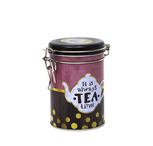 Es ist immer Tea Time, die Classic Mischung retro vintage-stil rund Kaffee Dose/Tee Caddy/Küche...