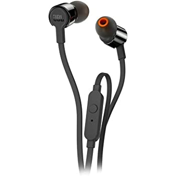 JBL T210 Pure Bass in-Ear Headphones with Mic (Black)